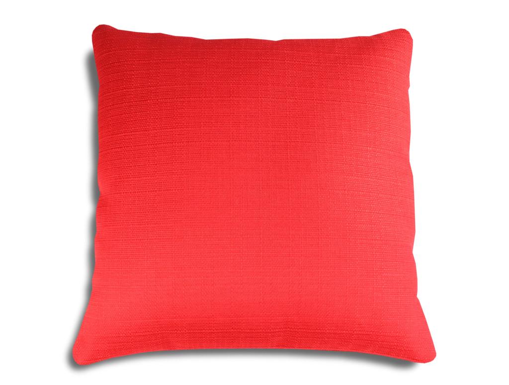 luxus sofakissen dekokissen einfarbig rot kissenwelt. Black Bedroom Furniture Sets. Home Design Ideas